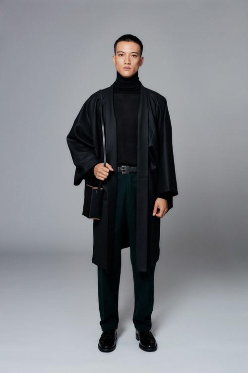 羽織 / T-KIMONO / Black(With tailoring)