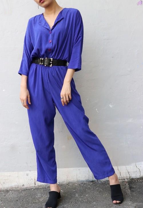 80's bluish purple all-in-one