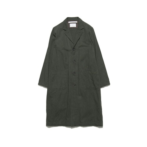 OXFORD TRIPLE NEEDLE STITCH LONG COAT - KHAKI