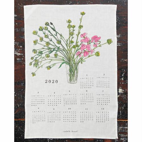 fog linen work(フォグリネンワーク)2020 ファブリックカレンダー フラワー