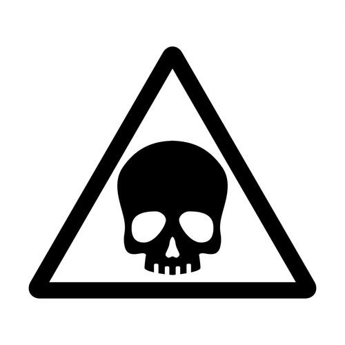 ドクロ・危険注意マークのカッティングシートステッカー