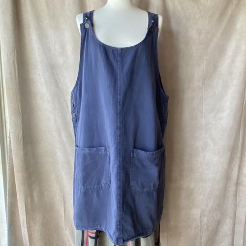 USA vintage navy apron dress /ネイビーのエプロンワンピース