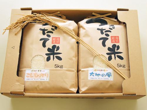 お米ギフト『はっぴー米食べ比べセット』5kg×2ヶ