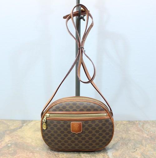 2000000027920 OLD CELINE MACADAM PATTERNED SHOULDER BAG MADE IN ITALY/オールドセリーヌマカダム柄ショルダーバッグ