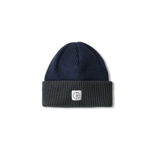 DOUBLE FOLD MERINO BEANIE -NAVY / GREY-