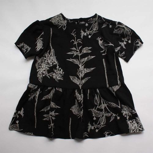 90㎝ girl dress  〇オリジナルプリントの美しいドレス