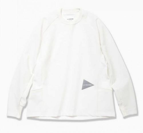 andwander  hybrid base layer long sleeve T(White)