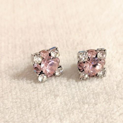 pierce vintage-rose & crystal square
