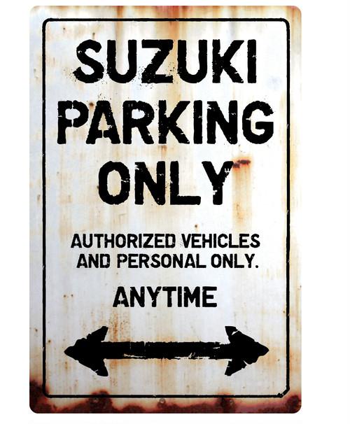 SUZUKI Parking Onlyサインボード