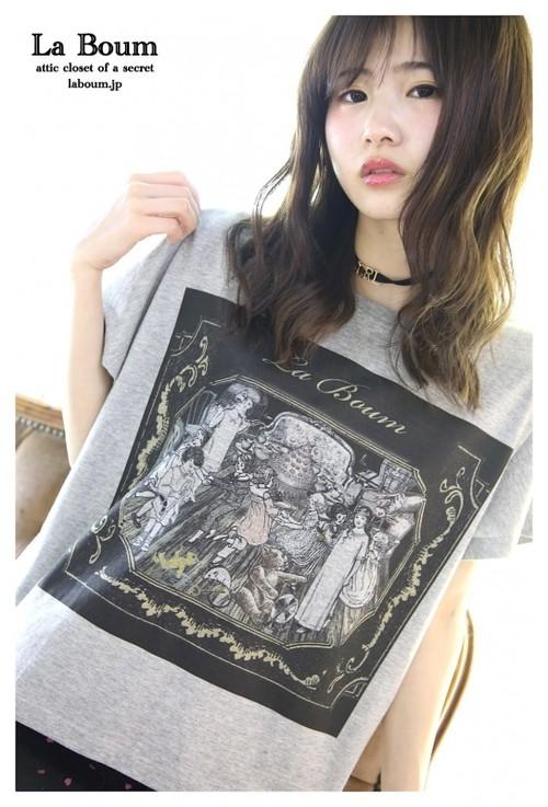 La BoumオリジナルデザインTシャツ(屋根裏のパーティー)