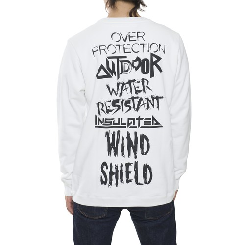 "PRINTED SWEATSHIRT ""WHITE MOUNTAINEERING"" - WHITE"