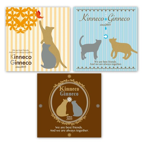 金猫*銀猫 ポチ袋(3枚セット)