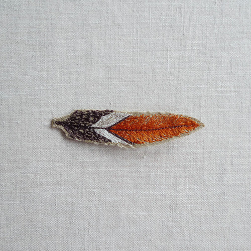 CORAL & TUSK Silk Cardinal Feather Pin