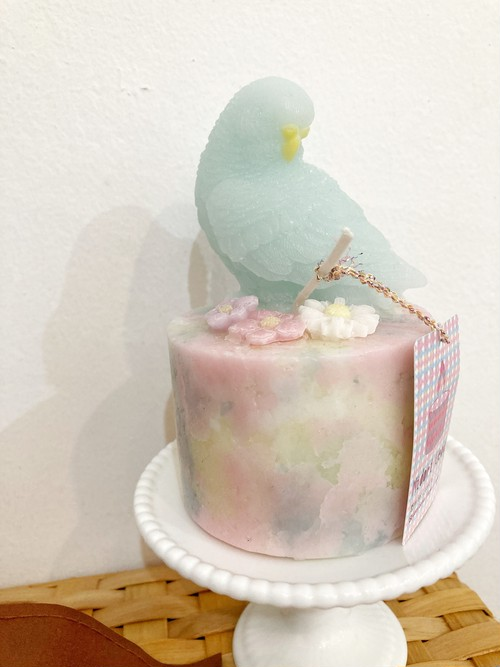 【midori_candle】鳥さんの円柱キャンドル