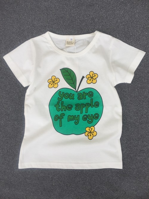 "【送料無料 】T-shirt for kids ""Green apple"""