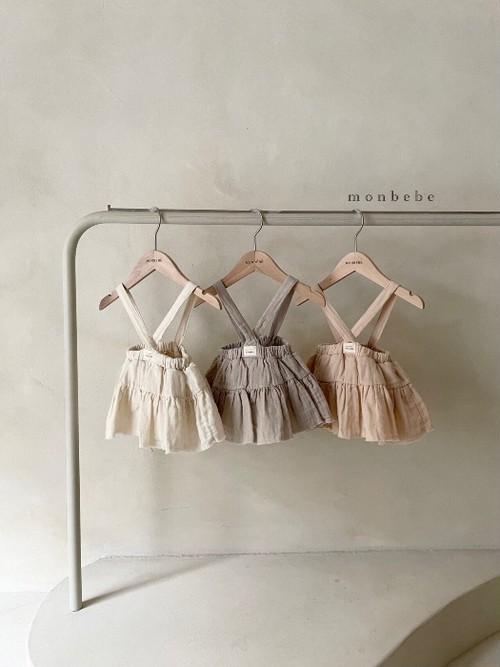 monbebe ベビー ストラップブルマスカート