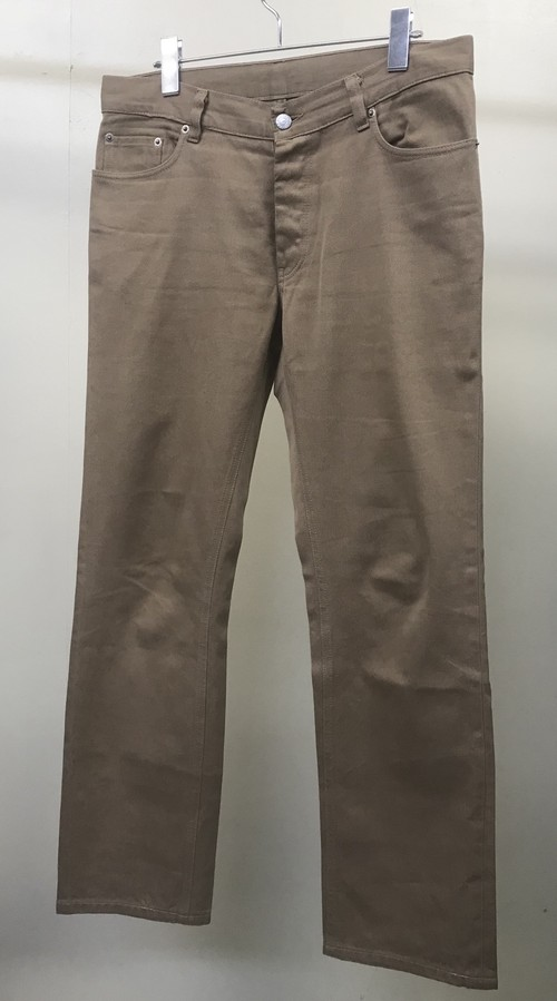 1999 HELMUT LANG SILK DENIM PANTS