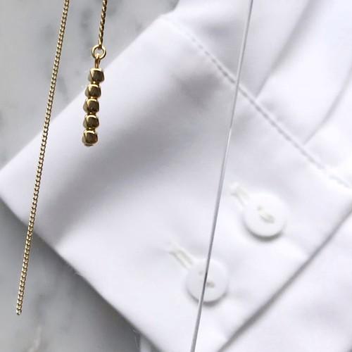 アシンメトリーチェーン 片耳用 pierce / earring
