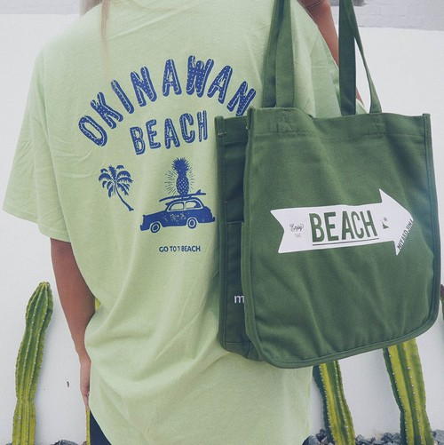 MIYAKOJIMA BEACH ➡︎ CANVAS TOTE L