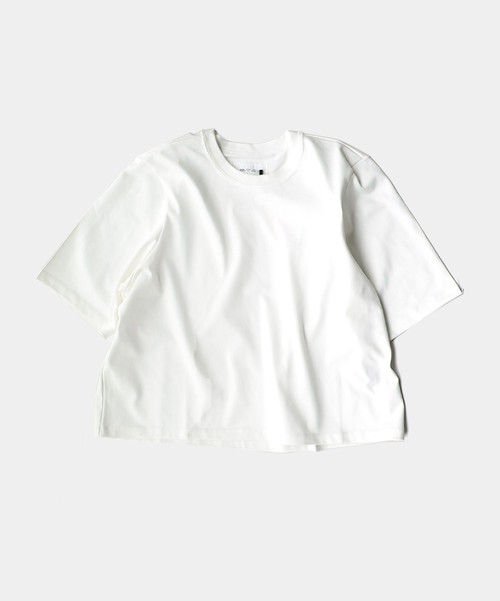 CAMIEL FORTGENS 11.01.04 TAILORED TEE CROPPED JERSEY OFF WHITE