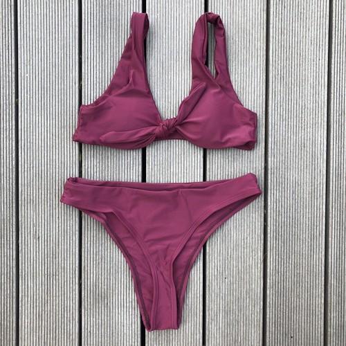 Bikini♡フロントタイタンキニ ボルドー