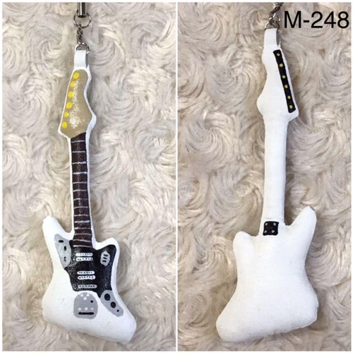 エレキギター・ストラップ・ホワイト M-248