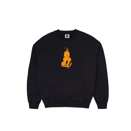 POLAR SKATE CO. Brain Blower Crewneck black ポーラー スウェット
