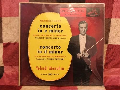 米盤フルベン&メニューインのメンデルスゾーン バイオリン協奏曲