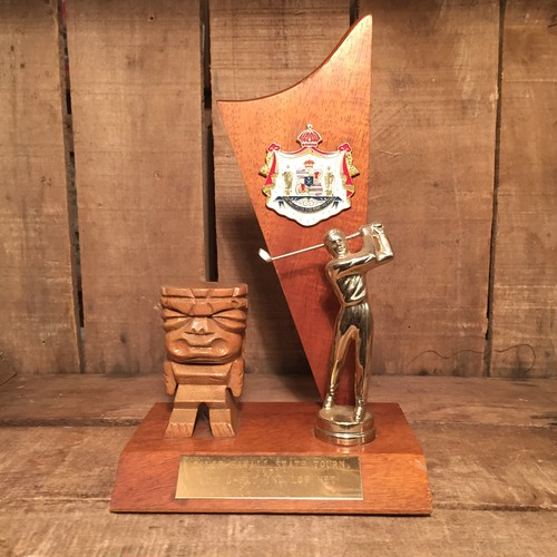 Vintage Hawaii Golf Tiki Trophy