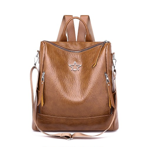 Backpack PU Leather Backpack Shoulder Bag Backpack ショルダーバッグ レザー バックパック リュック (HF99-8345722)