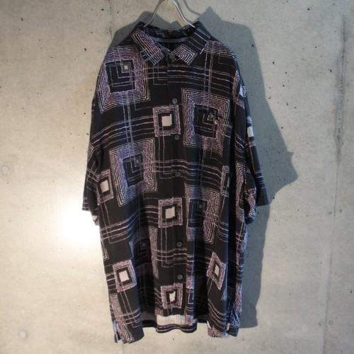 Silk Geometric Design Shirt