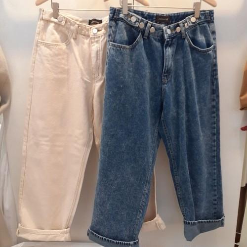 起毛ビンテージPパンツ デニム ジーンズ 韓国ファッション