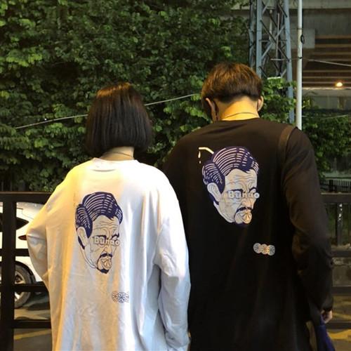 ユニークプリントロングTシャツ ZBL689