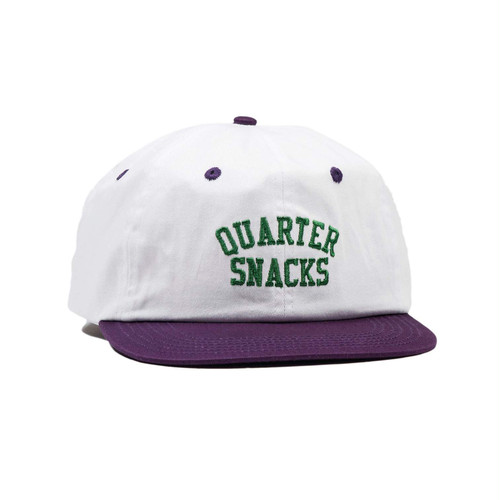 QUARTER SNACKS / ARCH CAP -WHITE-