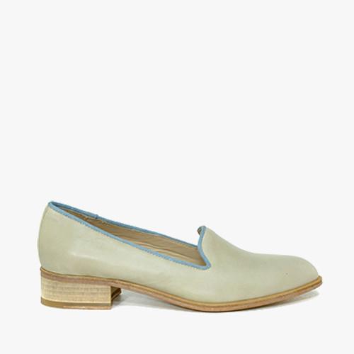 Deux Souliers (サンプルコレクション) - Pointy #1 ドレスシューズ (ボーン&ブルー) 【スペイン】【靴】【スリッポン】【インポート】【VOGUE】