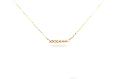 """Amulet angel""LADDER diamond necklace K18YG"