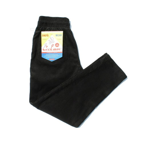 COOKMAN CHEF PANTS「CORDUROY」/ BLACK