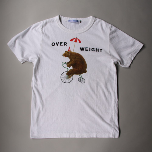 R&D.M.Co-/OLDMAN'S TAILOR オールドマンズテーラー Men's OVER WEIGHT T shirts white