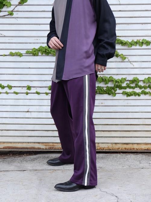 side line purple track pants