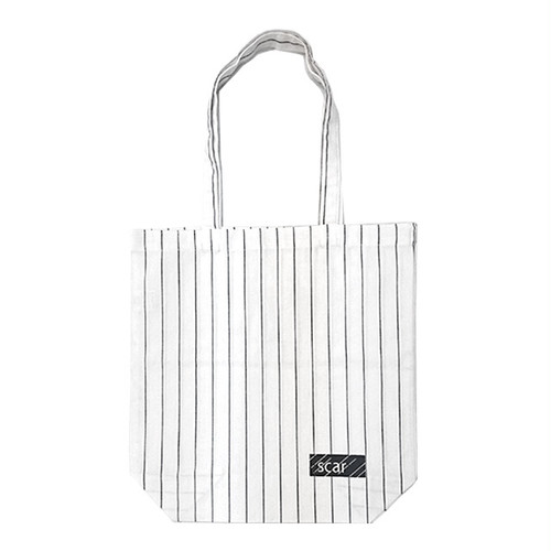 scar /////// BLACKBOX COTTON TWILL TOTE BAG (Pin Stripe)