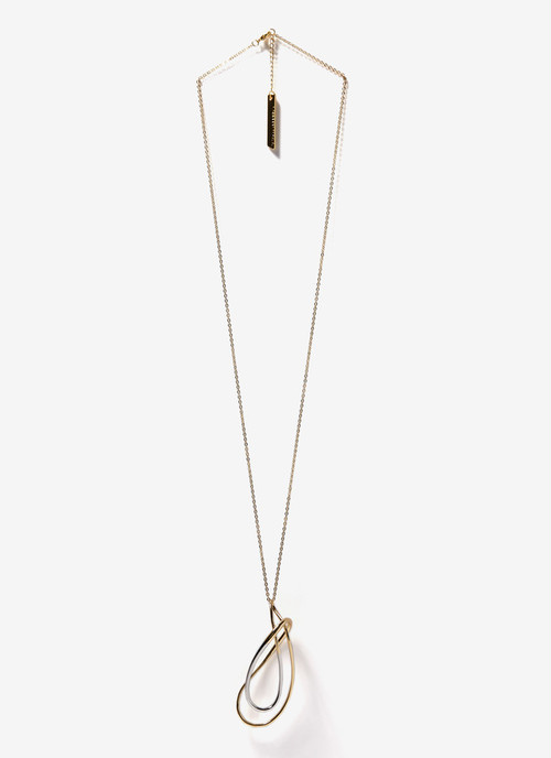 LONG NECKLACE WITH TWIRL PENDANT