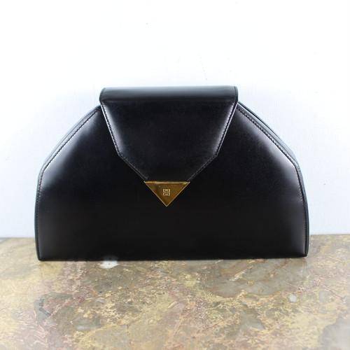 OLD GIVENCHY LOGO LEATHER CLUTCH BAG/オールドジバンシィロゴレザーハンドバッグ