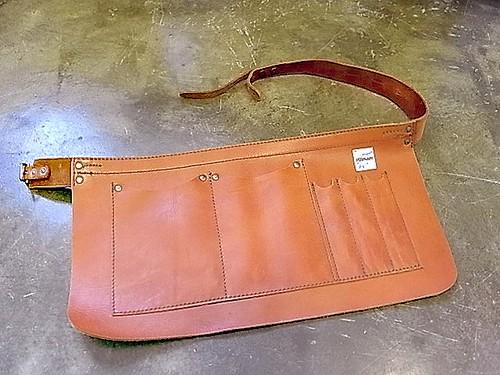 PURNARI work leather apron 【PU10-A1201】 プルナリ ワーク レザーエプロン