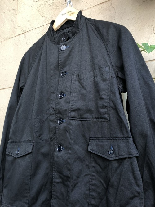 Japanese railroad jacket overdyed black color
