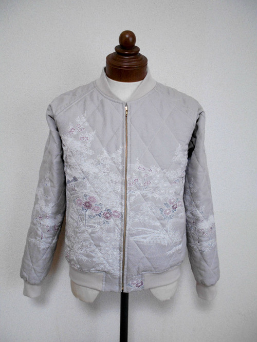 キルティング着物スカジャン  Quilted Kimono Sukajan  SK-215/M
