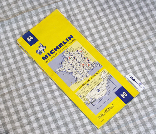 【Vintage/Used品】1972 MICHELIN MAP No.84 フランス南東部 MARSEILLE-MENTON /0113