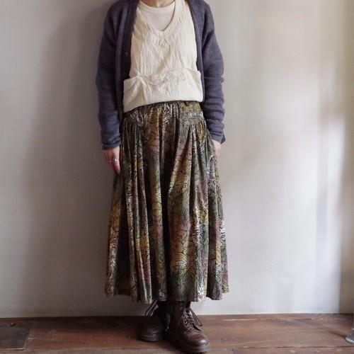 Leaf Pattern Skirt / リーフ柄 スカート