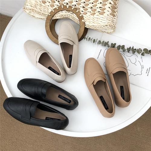 カラー豊富やわらかパンプス スクエアトゥ ローヒール かかと踏める 合皮 革 黒 ブラック 茶 ブラウン 白 ホワイト フォーマル オフィス シンプル 韓国