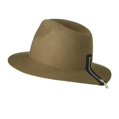 ZIPPER HAT/brown