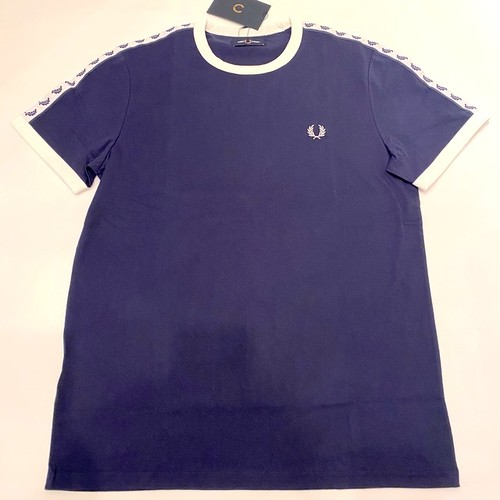 Taped Ringer T-shirts Carbon Blue